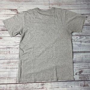 adidas Shirts - Adidas Grey/Blue Logo Vintage Tee